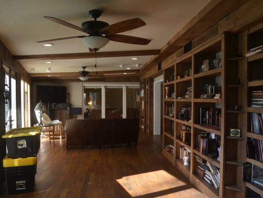 An open living area at the Mama Cash Home in Hendersonville.