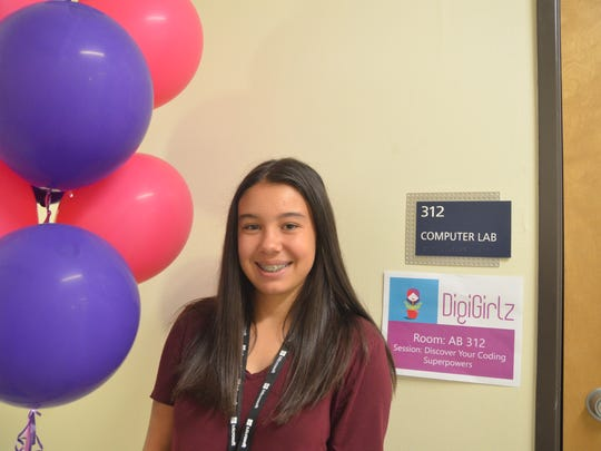 Josie Moleta, a participant at the Microsoft DigiGirlz- a tech camp for young women (July 19-20) to encourage them in STEAM (Science Technology Engineering Arts Mathematics). Reno NV