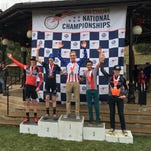 Magnus Sheffield, 13, rides to victory on Jan. 9, 2016, winning the 13-14-year-old junior men's division of the 2016 USA Cycling National Cyclo-Cross Championship in North Carolina.