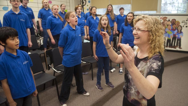 A  GoFundMe campaign to appeal for $3,000 in donations by June 30 to keep the ChildrenSong of New Jersey choir alive for next season has succeeded. Polly Murray, founding artistic director of ChildrenSong directs a recent rehearsal of the community choir at Haddonfield Middle School.