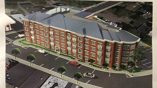 A rendering of the proposed apartment building between Lakeside and Colfax avenues in Pompton Lakes.