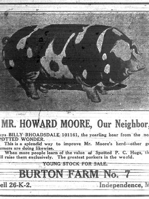 An ad from The Independence Examiner 100 years ago this week.
