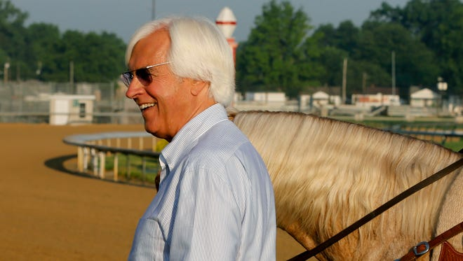 Trainer Bob Baffert was at Churchill Downs on Memorial Day to check on Justify in Louisville, Ky.  May 28, 2018