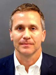 Missouri Gov. Eric Greitens as he was booked Feb. 22,