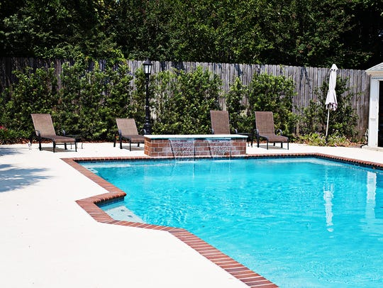 The beautiful pool is perfect for outdoor fun.