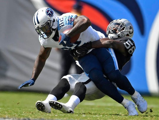 Tight end Delanie Walker led Tennessee receivers in