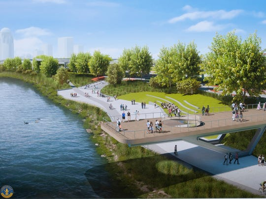 An artist's rendition of phase 4 of the Louisville waterfront.