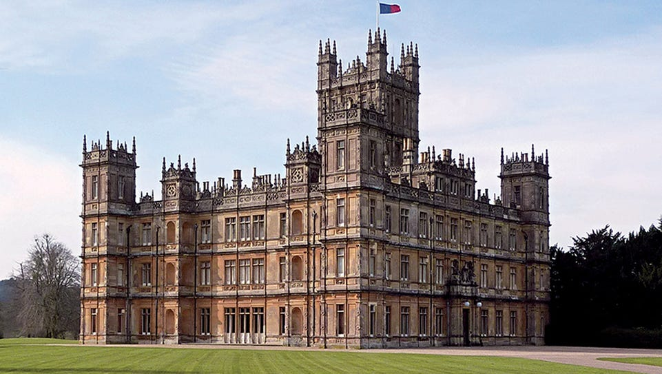 Highclere Castle was one of the fortunate English country