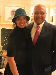 Kristi and Time Anderson at Nanda reception.
