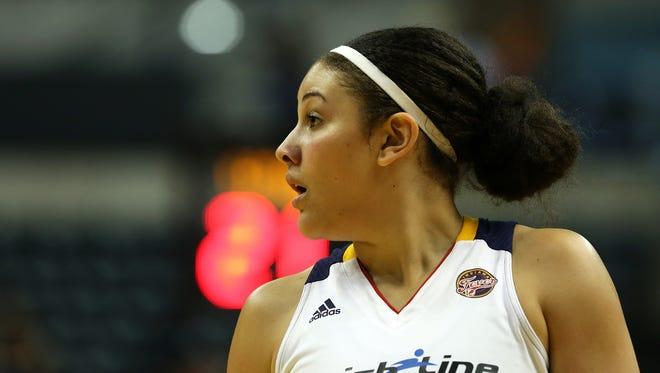 FILE – Fever center Natalie Achonwa scored 11 points in the team's preseason opener on Tuesday.