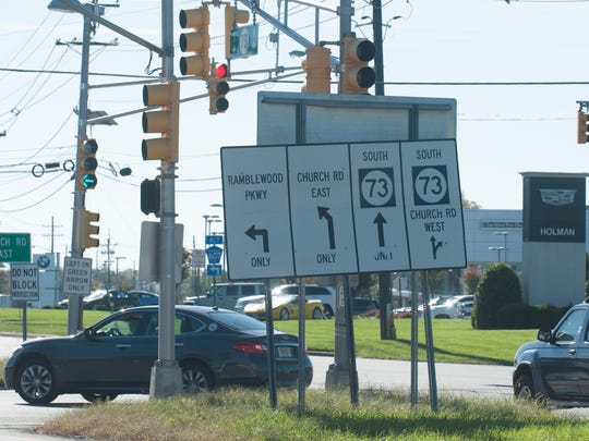 This busy intersection in Mount Laurel at Route 73 and Church Road could be undergoing major construction in 2021.