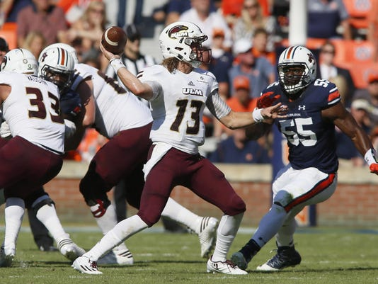 NCAA Football: UL Monroe at Auburn