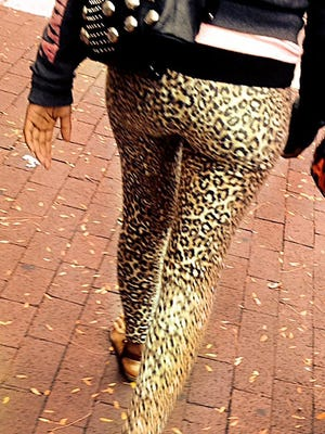 Let's face it, leggings are not pants. Even cute leopard print ones like these.