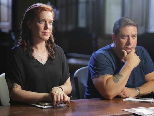Amy Allan and Steve DiSChiavi do their investigations