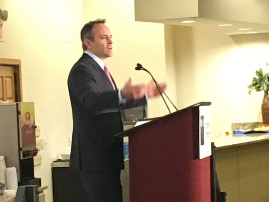 Kentucky Gov. Matt Bevin speaks to the Northern Kentucky