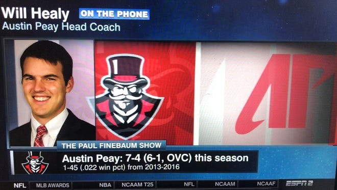 Austin Peay football coach Will Healy joined ESPN's Peter Burns as a guest on The Paul Finebaum Show Thursday afternoon.