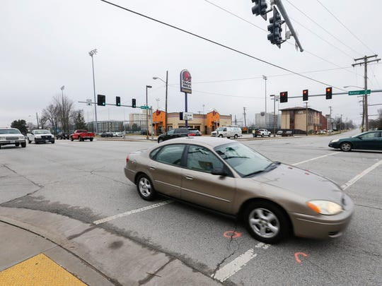 A pedestrian was killed after being struck by a car late Sunday night while walking eastbound across National Avenue at Cherry Street.