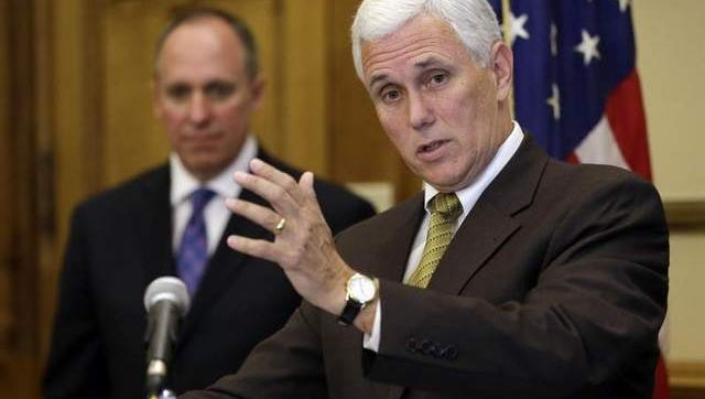Gov. Mike Pence is set to speak with Indiana Republican Party leaders Thursday about the coming departure of state party chairman Tim Berry.