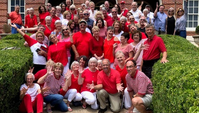 Members of the Leon High School Class of '68 gathered on campus Saturday for their 50th Reunion.