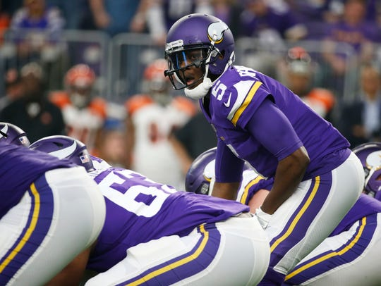 Minnesota Vikings quarterback Teddy Bridgewater calls