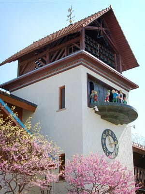 Frankenmuth's Bavarian Inn Glockenspiel is just one example of the town's Bavarian architecture.