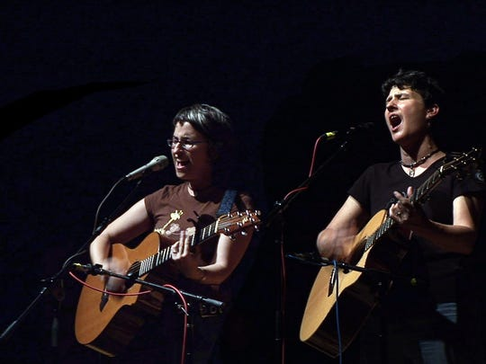Sandy O and Pat Humphries make up the folk duo Emma's Revolution, one of several artists scheduled for Ten Pound Fiddle's now canceled season.