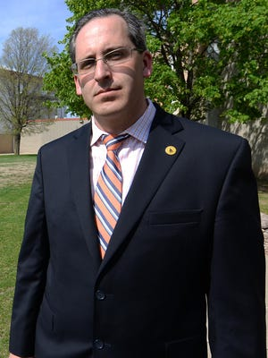 Brown County Executive Troy Streckenbach stands outside the Brown County Veterans Memorial Arena.