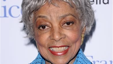 "In this file photo, Ruby Dee attends a special screening of ""Frankie & Alice"" in New York. Dee, an acclaimed actor and civil rights activist whose versatile career spanned stage, radio television and film, has died at age 91, according to her daughter. Nora Davis Day told The Associated Press today that her mother died at home at New Rochelle, New York, on Wednesday night."