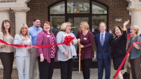 Rainbow Child Care Center celebrated its first year with a ribbon cutting.