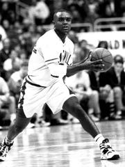 Brian Jackson paced the country in 3-point field goal percentage in 1994-95.