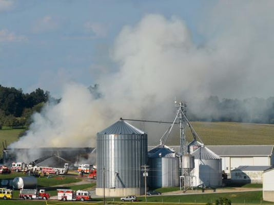 Emergency crews were on scene of a working barn fire in North Hopewell Township, York County 911 reported.