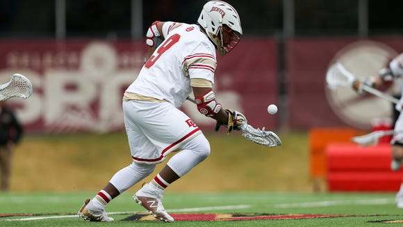 Denver junior Trevor Baptiste broke the school record for faceoff wins Saturday against Georgetown.