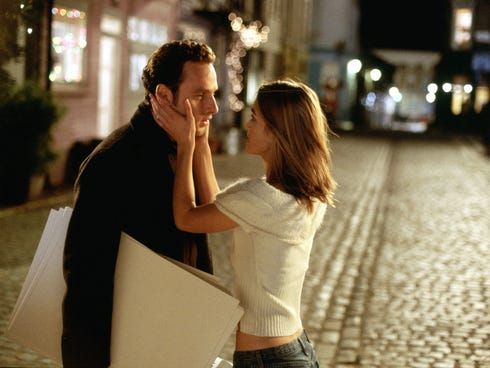 Andrew Lincoln, left, and Keira Knightley star in 'Love Actually,' which is celebrating its 10th anniversary.