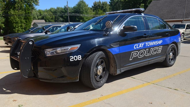 Clay Township police responded to a report of a vehicle that went into a canal in Clay Township Thursday morning.