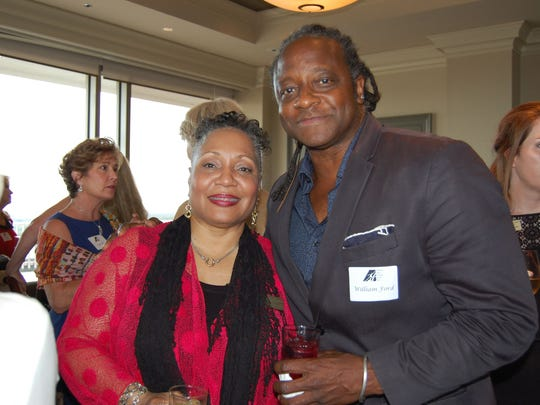 Yvette Jones Smedley, the State Arts Council's Performing Arts Program Manager, with Bill Ford, President of the Montgomery Arts Council.