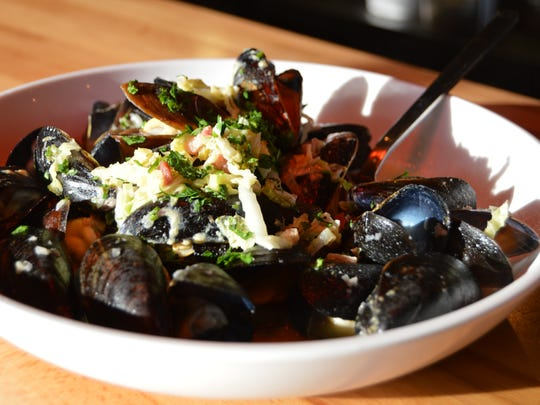 Steamed mussels from Dewey Beer Co. in Dewey Beach.