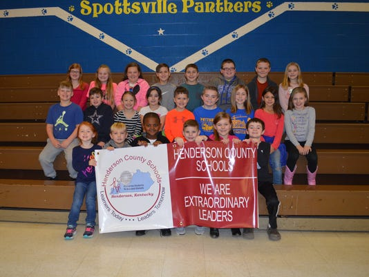Spottsville Elementary January leaders of the month