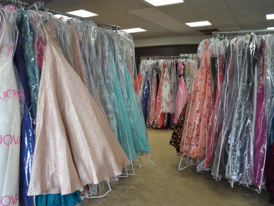 There are over 1,000 dresses at Dressed In Time in
