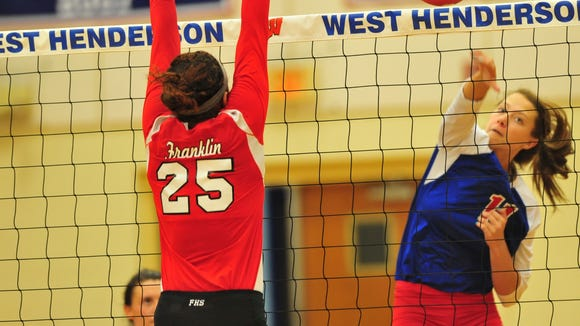 Gracie Carrick is one of five returning all-conference players for the West Henderson volleyball team.