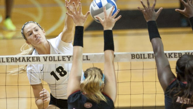 Purdue's Annie Drews dominated Indiana in two matches last week.