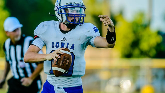 Despite limited vision, John Meyer is flourishing for Ionia and is currently the leading passer in the Lansing area.