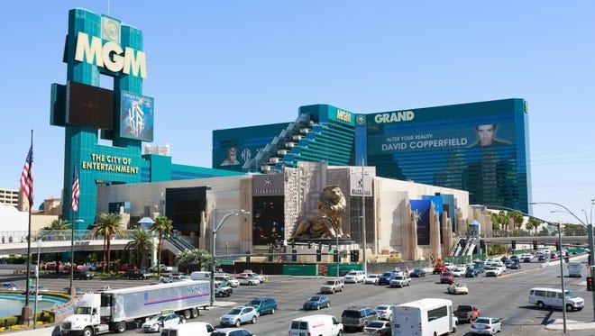 MGM Grand hotel casino in Las Vegas, Nevada.
