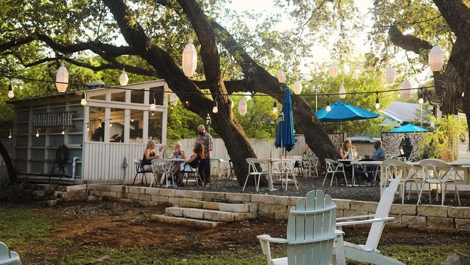 Lenoir will begin outdoor service in its wine garden Thursday.