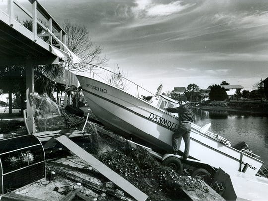 The Storm of the Century wreaked havoc on the low-lying coastal areas of Taylor County.
