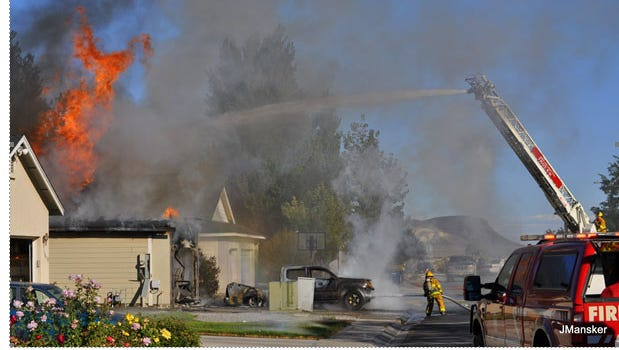 A look at the house fire in Fernley. This photo was taken by Jerome Mansker of Jerome Mansker Photography.