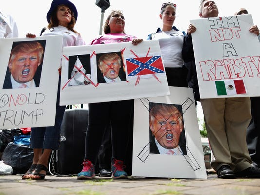 Latino Activists Protest Outside Site Of Future Trump Hotel In Washington DC