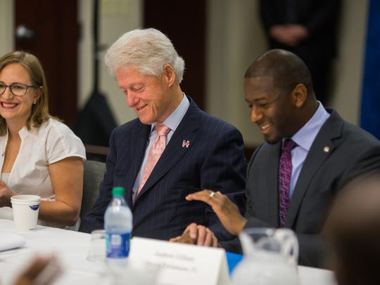 Mayor Andrew Gillum with President Bill Clinton.