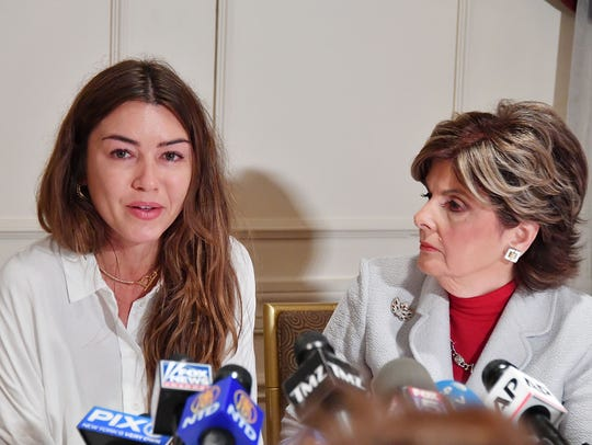 Attorney Gloria Allred holds a press conference with