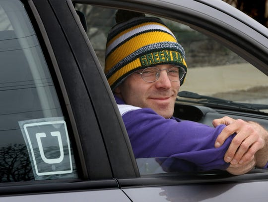 As Peter Hann of Greendale, smiled from his car in May after hitting his 127th day of making at least one Uber transport, he still had 250 days ahead of him to stretch his unbroken string of days out to a full year.