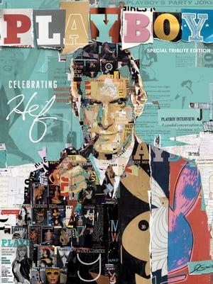 Eau Gallie artist Derek Gores designed the cover of Playboy's Hugh Hefner special tribute edition.
